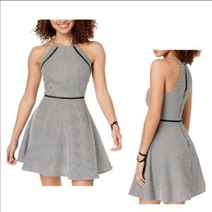 B Darling skater mini dress w/keyhole back